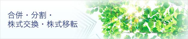 合併・分割・株式交換・株式移転